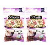 ซื้อ Goodies เอ็นเนอร์จี้ทรีต กระดูกตัด คละรส ขนมสุนัข 500กรัม คละสี 2 ถุง Goodies เป็นต้นฉบับ
