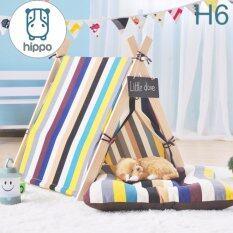 ทบทวน Hippo บ้านสุนัข Dog House พร้อมที่นอน สำหรับลูกรักทุกสายพันธุ์ Size L Hippo