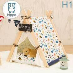 โปรโมชั่น Hippo บ้านสุนัข Dog House พร้อมที่นอน สำหรับลูกรักทุกสายพันธุ์ Size S Thailand
