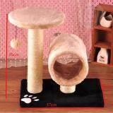 ขาย ซื้อ Hippo คอนโดแมว รุ่นPet4 Cream ขนาดเล็ก วัสดุคุณภาพ เบาะนอนนุ่มและที่ลับเล็บน้องแมว Beige Thailand