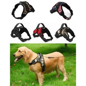 Hot Sale Dog Soft Harness Adjustable Pet Dog Big Exit Harness Vest Collar Strap for Small and Large Dogs Pitbulls - Red (L) - intl