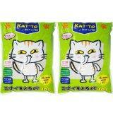 ขาย Kat To Cat Litter 10 Litres X 2 Lemon แคทโตะ ทรายแมว กลิ่นมะนาว ขนาด 10 ลิตร จำนวน 2 ถุง ถูก ใน ไทย