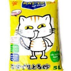 โปรโมชั่น Kat To Cat Litter 5 Litres Apple แคทโตะ ทรายแมว กลิ่นแอปเปิ้ล ขนาด 5 ลิตร ไทย