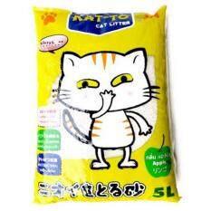 ขาย ซื้อ ออนไลน์ Kat To Cat Litter 5 Litres Apple แคทโตะ ทรายแมว กลิ่นแอปเปิ้ล ขนาด 5 ลิตร