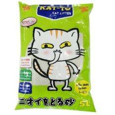 KAT-TO Cat Litter 5 Litres (Lemon) แคทโตะ ทรายแมว กลิ่นมะนาว ขนาด 5 ลิตร