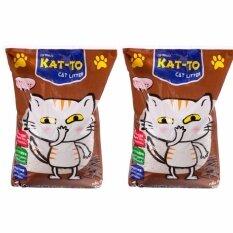 ขาย Kat To Cat Litter Coffee 5 Litres X 2 Units แคทโตะ ทรายแมว กลิ่นกาแฟ ขนาด 5 ลิตร จำนวน 2ถุง ไทย ถูก