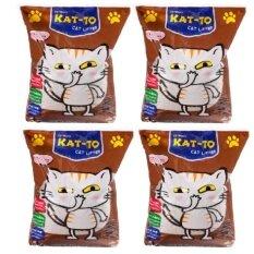 Kat To Cat Litter ทรายแมว กลิ่นกาแฟ ขนาด 5 ลิตร 4 Units ใหม่ล่าสุด