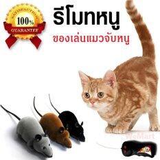 ซื้อ ของเล่นแมว ของเล่นหมา ของเล่นน้องแมว ของเล่นแมวจับหนู รีโมทคอนโทรล ไร้สาย เกมส์แมวจับหนู สีดำ Wemart ถูก
