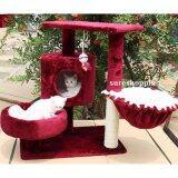 ขาย คอนโดแมว ที่นอนแมว ของเล่นแมว บ้านแมว ที่ลับเล็บแมว ที่ฝนเล็บแมว สีแดงไวน์ Sureshopping ใน กรุงเทพมหานคร