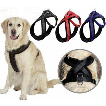 L Large Dog Harness Adjustable Chest Strap Belt Walking SafeControl Collar Black - intl