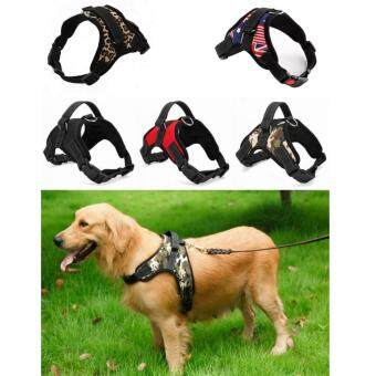 Large Dog Traction Rope Chest And Back Strap Adjustable Harness Comfortable Pet Supplies - Red (M) - intl