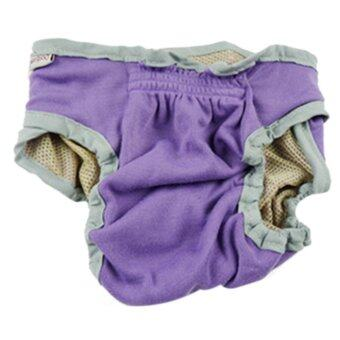 ถูกที่สุดในวันนี้ LT365 Female Pet Dog Velcro Fixed Underwear Puppy Cat Diaper Sanitary Pants - Purple S - intl buy - มีเพียง ฿113.00