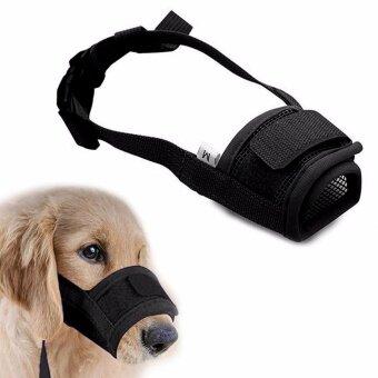 ไซส์ M. ตะกร้อครอบปากสุนัข แบบระบายอากาศได้ดี สุนัขสามารถดื่มน้ำได้ ตะกร้อครอบปาก ป้องกันการเห่า กัด