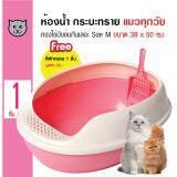 ราคา Makar ห้องน้ำแมว กระบะทรายแมว ทรงไข่ มีขอบกันทรายเลอะ สำหรับแมวทุกสายพันธุ์ ขนาด 38 X 50 ซม ออนไลน์ กรุงเทพมหานคร