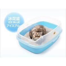ราคา Makar กะบะทรายแมวเสริมขอบสูง จัมโบ้ Ag สีฟ้า Makar ไทย