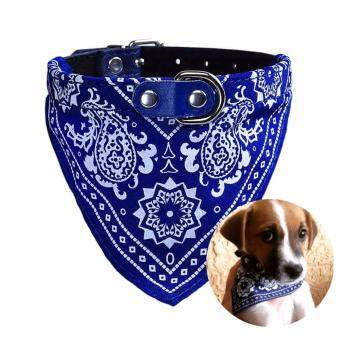 Mestyle สร้อยคอน้องหมา น้องแมว สายหนัง PU สุดเก๋ - สีน้ำเงิน