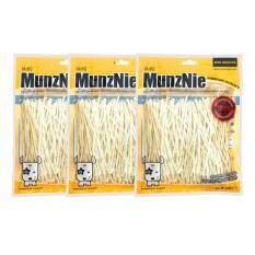 Munznie ขนมขบเคี้ยวสำหรับสุนัข ปลาเส้นดั้งเดิม บรรจุ 80g (x3 Packs).