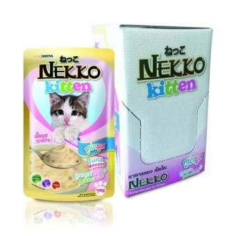Nekko อาหารเปียก ลูกแมว ทูน่ามูส ( 12 units )