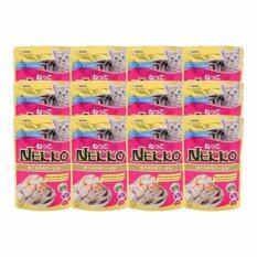ราคา Nekkoอาหารเปียกแมว รสปลาทูน่าหน้ากุ้ง และหอยเชลล์70G 12 Units ราคาถูกที่สุด