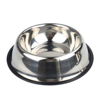 Outlet Non slip stainless steel dog bowl pet bowl - intl