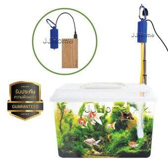 ปั๊มลม แบบพกพา สาย USB ใช้งานกับแบตสำรอง(Power Bank) ใช้กับอะแอปเตอร์เสียบปลั๊คได้ ปลา กุ้ง ปัมลม ปั้มลม ปัมน้ำ ปั้มน้ำ ตู้ปลา