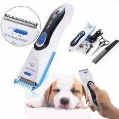 ราคา ปัตตาเลี่ยนตัดขนสัตว์ไร้สาย Bd 300 Professional Electric Animal Hair Cutting Trimmer White Blue ใหม่
