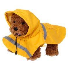 สัตว์เลี้ยงแมวสุนัขกันน้ำกลางแจ้งเสื้อปอนโชเสื้อกันฝน (สีเหลือง Xs) - นานาชาติ By Highfly.