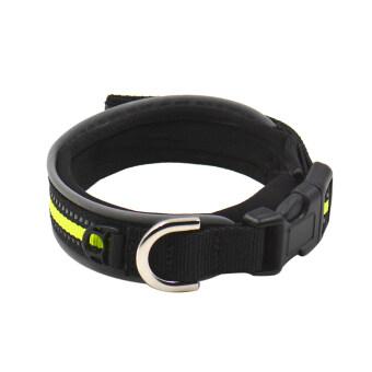 สัตว์เลี้ยงสุนัข Adjustable Rhinestone สะท้อนแสงแบบแยกส่วนหัวเข็มขัดนิรภัย (สีดำ) (L)