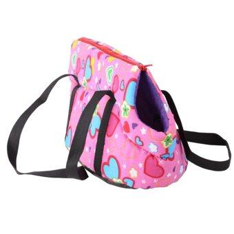 Pet Dog Carrier Canvas Handbag Travel Carrying Bag for Dogs and Cats (Light Pink) (S) - intl