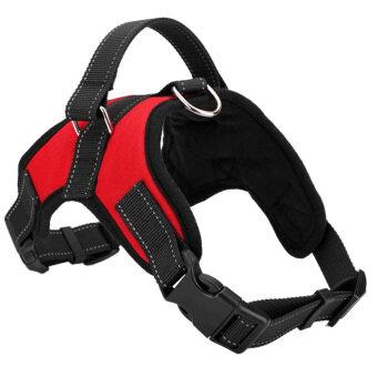 Pet Dog Soft Adjustable Harness Pet Walk Out Hand Strap Vest Collar (Red) (M) - intl