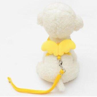 สัตว์เลี้ยงสุนัขแมวสายจูงปลอกคอชุดปรับสายรัดสัตว์เลี้ยง (ขนาด: XS)