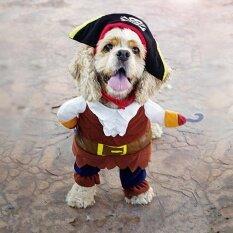 สุนัขสัตว์เลี้ยงขนาดเล็กแมวชุดโจรสลัด Jumpsuit เสื้อผ้าสำหรับคริสต์มาสฮาโลวีน 24 เซนติเมตร - Intl By Beauty Wisdom.