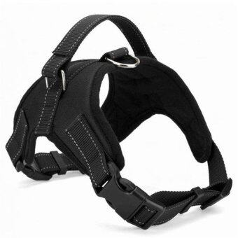 Pet Traction Rope Large and Medium - Sized Dog Pet Explosion - Resistant Pull Chest Strap - Black(M) - intl