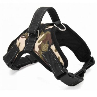 Pet Traction Rope Large and Medium - Sized Dog Pet Explosion - Resistant Pull Chest Strap - Camouflage(L) - intl