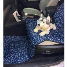 ทบทวน เบาะคลุมรถยนต์สำหรับสุนัข แผ่นรองกันเปื้อนสำหรับสุนัขในรถยนต์ แผ่นรองกันเปื้อนเบาะรถยนต์สำหรับสุนัข สำหรับเบาะหน้า ลายเมฆ สีกรมท่า Unbranded Generic