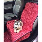 เบาะคลุมรถยนต์สำหรับสุนัข แผ่นรองกันเปื้อนสำหรับสุนัขในรถยนต์ แผ่นรองกันเปื้อนเบาะรถยนต์สำหรับสุนัข สำหรับเบาะหน้า ลายเมฆ สีแดง ใน กรุงเทพมหานคร