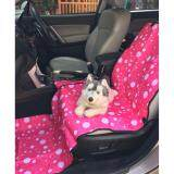 เบาะคลุมรถยนต์สำหรับสุนัข แผ่นรองกันเปื้อนสำหรับสุนัขในรถยนต์ แผ่นรองกันเปื้อนเบาะรถยนต์สำหรับสุนัข สำหรับเบาะหน้า ลายฟองสบู่ สีชมพู ถูก