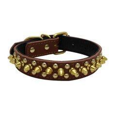 ราคา Rivet Spiked Studded Pu Pet Collar For Cats Puppy Dogs Size L Brown Intl Unbranded Generic เป็นต้นฉบับ