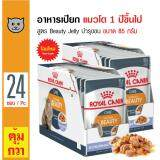 ขาย Royal Canin Beauty Jelly อาหารเปียกแมว ชนิดเจลลี่ สูตรบำรุงขนให้ดูเงางาม ทานง่าย สำหรับแมวโตอายุ 1 ปีขึ้นไป ขนาด 85 กรัม X 24 ซอง ออนไลน์ Thailand