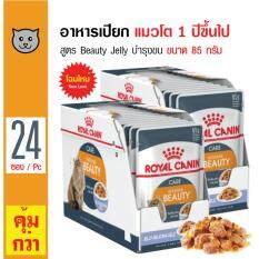 ซื้อ Royal Canin Beauty Jelly อาหารเปียกแมว ชนิดเจลลี่ สูตรบำรุงขนให้ดูเงางาม ทานง่าย สำหรับแมวโตอายุ 1 ปีขึ้นไป ขนาด 85 กรัม X 24 ซอง ออนไลน์ Thailand