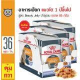 ราคา Royal Canin Beauty Jelly อาหารเปียกแมว ชนิดเจลลี่ สูตรบำรุงขนให้ดูเงางาม ทานง่าย สำหรับแมวโตอายุ 1 ปีขึ้นไป ขนาด 85 กรัม X 36 ซอง Royal Canin Thailand