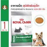 ขาย Royal Canin Mini Dermacomfort อาหารสุนัขโตพันธุ์เล็ก สำหรับสุนัขผิวแพ้ง่าย ผิวบอบบาง สุนัขโตอายุ1ปีขึ้นไป ขนาด 800 กรัม Royal Canin ออนไลน์