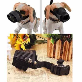 ไซส์ S. ตะกร้อครอบปากสุนัข แบบระบายอากาศได้ดี สุนัขสามารถดื่มน้ำได้ ตะกร้อครอบปาก ป้องกันการเห่า กัด-