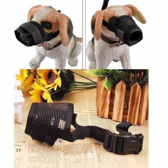 ไซส์ S. ตะกร้อครอบปากสุนัข แบบระบายอากาศได้ดี สุนัขสามารถดื่มน้ำได้ ตะกร้อครอบปาก ป้องกันการเห่า กัด