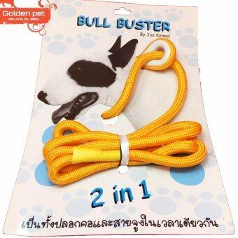 สายจูงประกวดสุนัข 2 in 1 Bull Buster สีเหลือง
