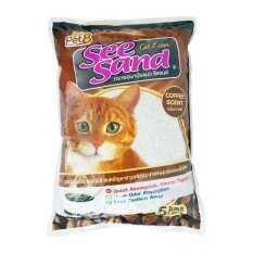 ราคา See Sand Cat Litter Coffee 5 Litres X 4 Units ทรายอนามัย กลิ่นกาแฟ ขนาด 5 ลิตร จำนวน 4 ถุง