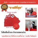 ราคา Shoppingcenter แผ่นดักทรายแมว ขนาด 70X50 เซนติเมตร สีแดง 4 แผ่น Easymall เป็นต้นฉบับ