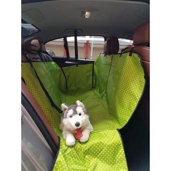 เบาะคลุมรถยนต์สำหรับสุนัข แผ่นรองกันเปื้อนสำหรับสุนัขในรถยนต์แผ่นรองกันเปื้อนเบาะรถยนต์สำหรับสุนัข ผ้าคลุมสำหรับเบาะหลังรถเก๋ง รถ SUV (สีเขียว)