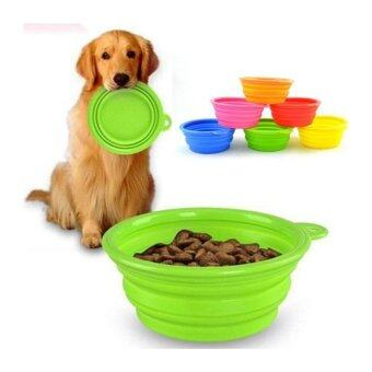 Silicone Collapsible Dog Cat Pet Silicone Travel Feeding Bowl Water Dish Feeder - intl