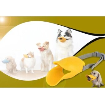 ตะกร้อซิลิโคนครอบปากสุนัขทรงปากเป็ด ที่ครอบปากสุนัข กันเลีย กันเห่า กันกัด Size M